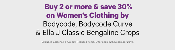 Buy 2 or more & save 30% on Women's Denim Republic Jeans, Bodycode & Ella J Bengaline Crops