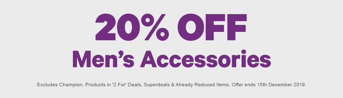 20% off Men's Accessories