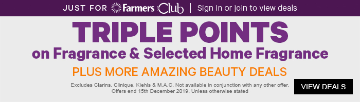 TRIPLE POINTS ON FRAGRANCE & SELECTED HOME FRAGRANCE