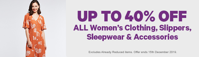 20-40% off ALL Women's Clothing & Accessories