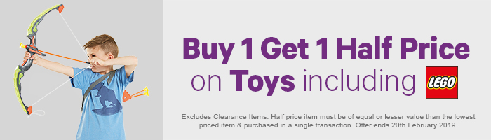 Buy 1 Get 1 HP On Toys Including Lego