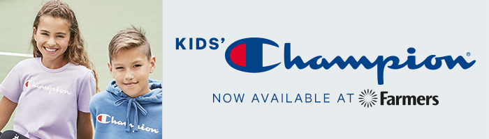 Kids' Champion. Now Available At Farmers.