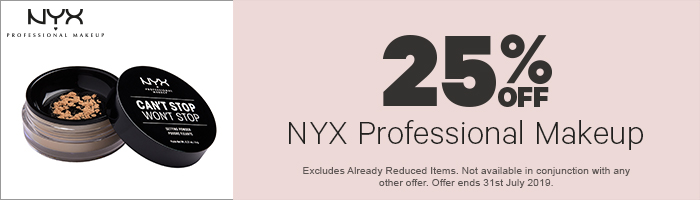 25% off NYX Professional Makeup