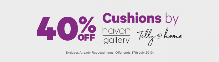 40% off Cushions by Haven Gallery & Tilly@home