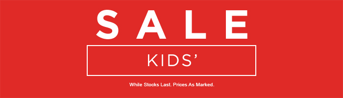 Kids' Sale on now