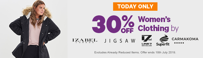30% off Women's Clothing by Isabel London, Jigsaw, Line 7, Superfit, Carmakoma