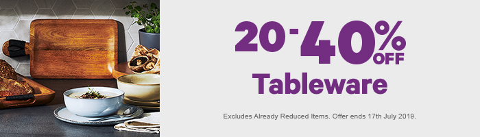 20-40% off Tableware