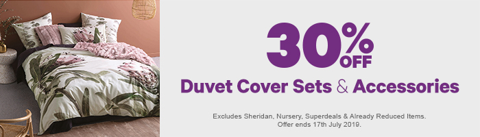30% off Duvet Cover Sets & Accessories