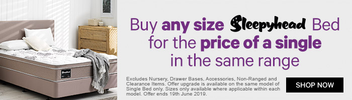 Buy any size Sleepyhead bed and upgrade in the same range