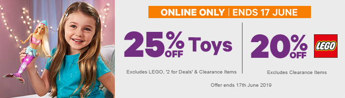 25% off Toys & 20% off LEGO