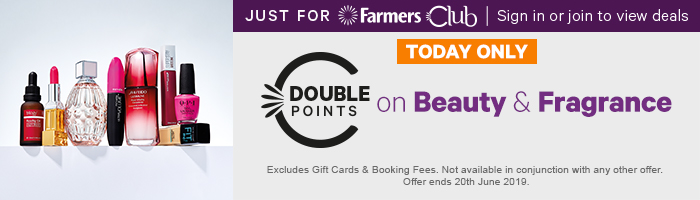 Double points on Beauty & Fragrance
