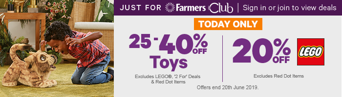 25-40% off Toys & 20% off LEGO - Today Only