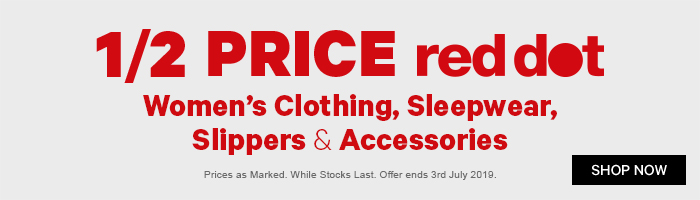 1/2 Price Red Dot Women's Clothing, Sleepwear, Slippers & Accessories
