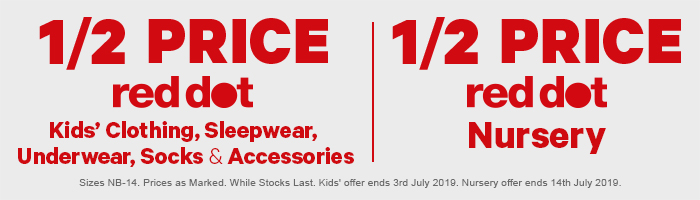 1/2 Price Red Dot Nursery & Kids' Clothing, Sleepwear, Underwear, Socks, Accessories