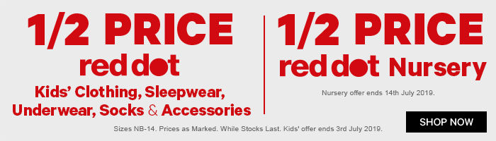 1/2 Price Red Dot Kids' Clothing & Nursery
