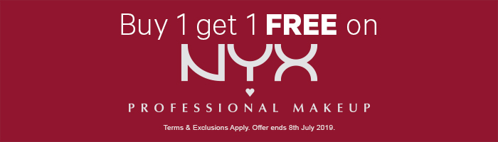 Buy 1 Get 1 Free on NYX Professional Makeup