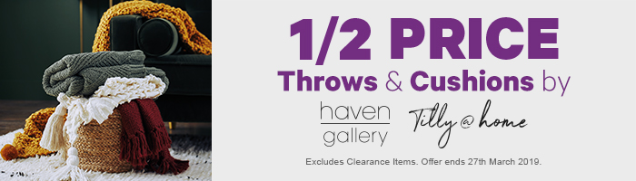 1/2 Price Throws & Cushions