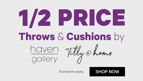1/2 Price Throws & Cushions by Haven Gallery