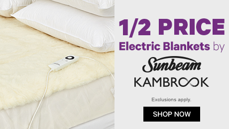 1/2 Price Electric Blankets by Sunbeam etc