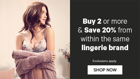 Buy 2 or more & Save 20% from within the same lingerie brand