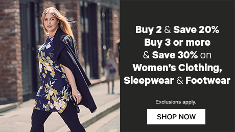 Buy 2 or more & Save 20% buy 3 or more and save 30% on Women's Clothing & Footwear