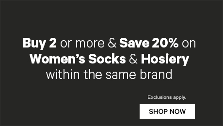 Buy 2 or more & Save 20% sock and hoisery from within the same brand