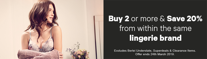 Buy 2 or more & save 20% of within the same Lingerie brand