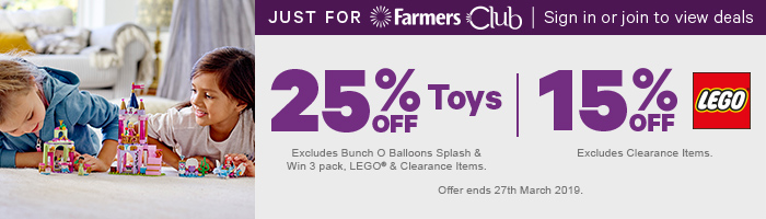 25% off Toys | 20% off LEGO