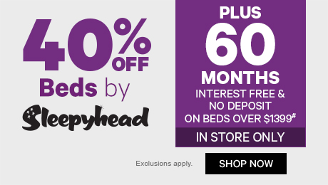 40% off Beds by Sleepyhead