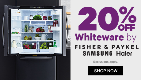 20% off Whiteware by F&P, Samsung & Haier