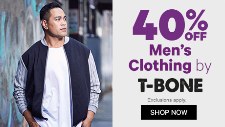40% off Men's Clothing by T-BONE