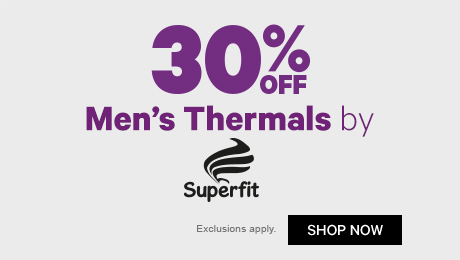 30% off Men's Thermals by Superfit