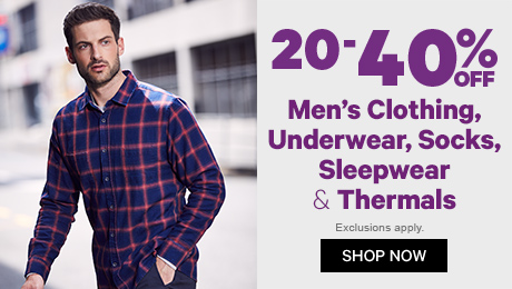 20-40% off Men's Clothing
