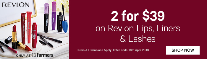 2 for $39 on Revlon Lips, Liners & Lashes