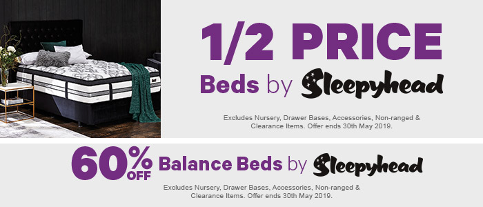 Half Price Beds by Sleepyhead, 60% off balance beds by sleepyhead