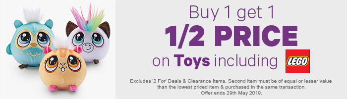 Buy 1 Get 1 1/2 Price on Toys including LEGO