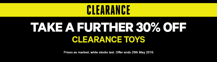 Take a Further 30% off Clearance Toys