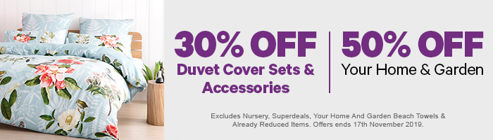 Duvet Cover Sets & Accessories | 50% off Your Home & Garden