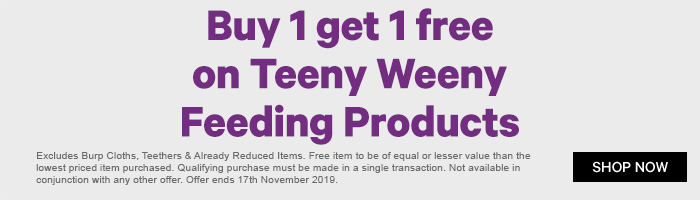 Buy 1 Get 1 Free on Teeny Weeny Feeding Products