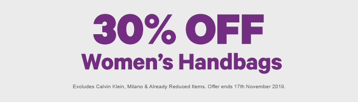 30% off Women's Handbags