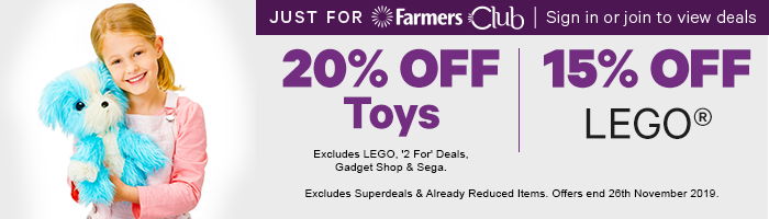 20% off Toys | 15% off LEGO