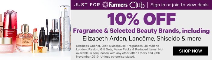 10% off Fragrance & Selected Beauty