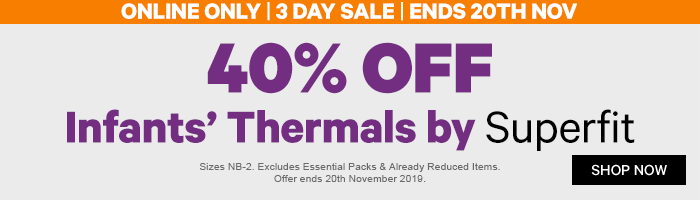 40% off Infants' Thermals by Superfit