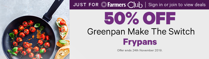 50% off Greenan Make the Switch Frypans