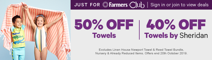 50% off Towels | 40% off Towels by Sheridan
