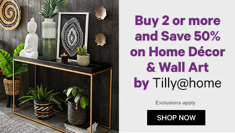 Buy 2 or more & save 50% on Home Decor & Wall Art by Tilly@home