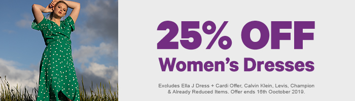 25% off Women's Dresses