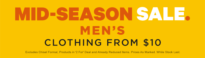 Mid-Season Sale Men's