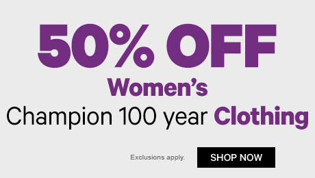 50% off Women's Champion 100 Year Clothing
