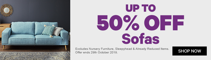 Up to 50% off Sofas